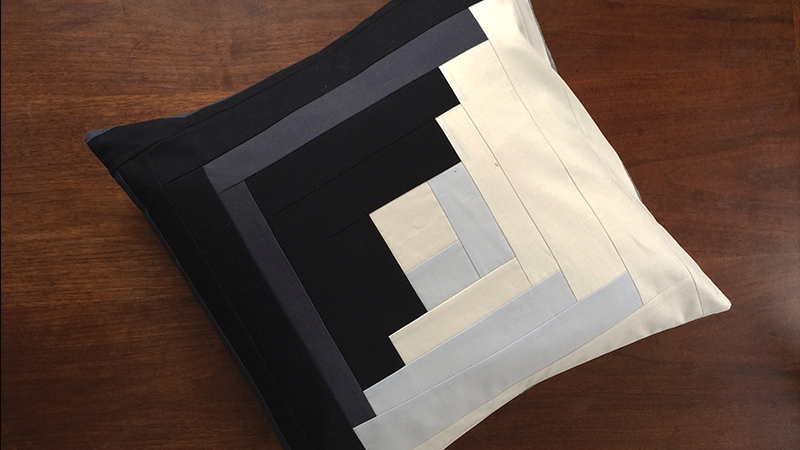 Improv Log Cabin Pillow Cover