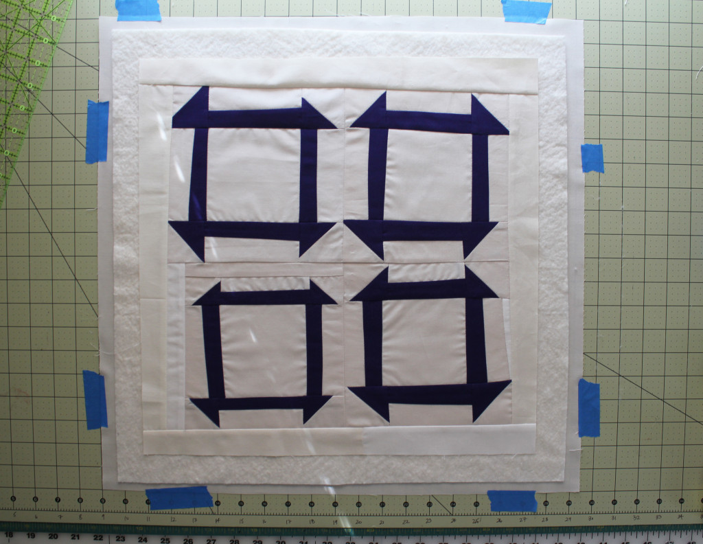 5 quilt top on sandwich
