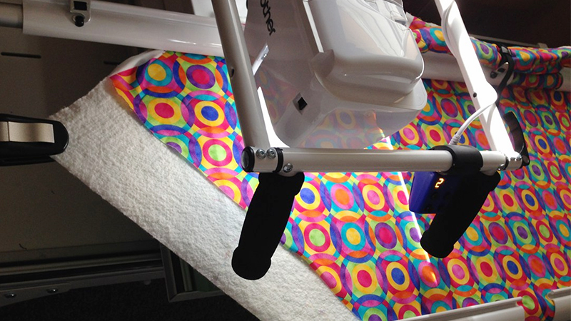 Quilted Tote Bag on The Dream Fabric Frame