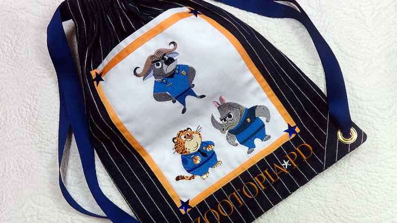 Make a Zootopia Themed Knapsack