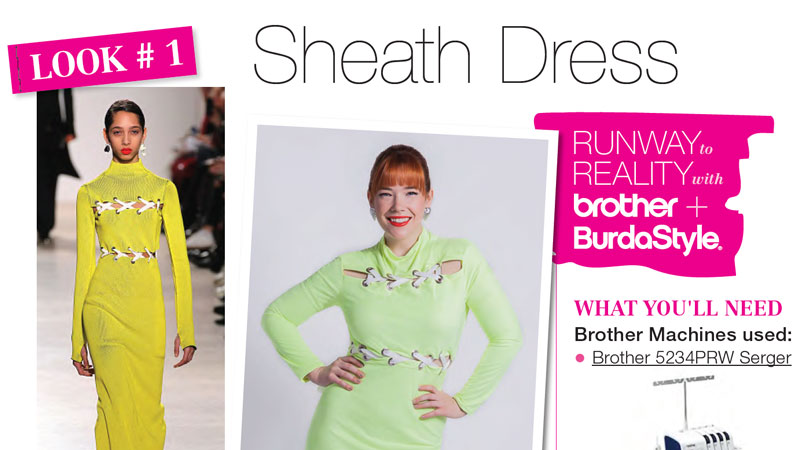 Runway to Reality Look 1 – Sheath Dress