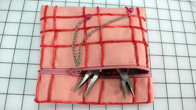 VIDEO: Pintucking Pt. 2 Turning Fabric into a Zippered Bag