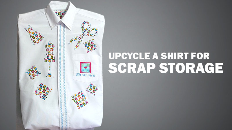 Free Design: Upcycle a Shirt for Scrap Storage