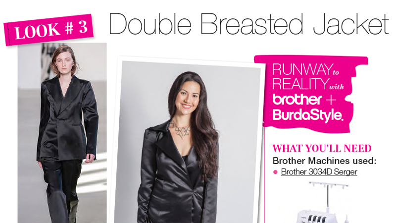 Runway to Reality Look 3 – Double Breasted Jacket