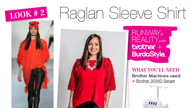 Runway to Reality Look 2 – Raglan Sleeve Shirt