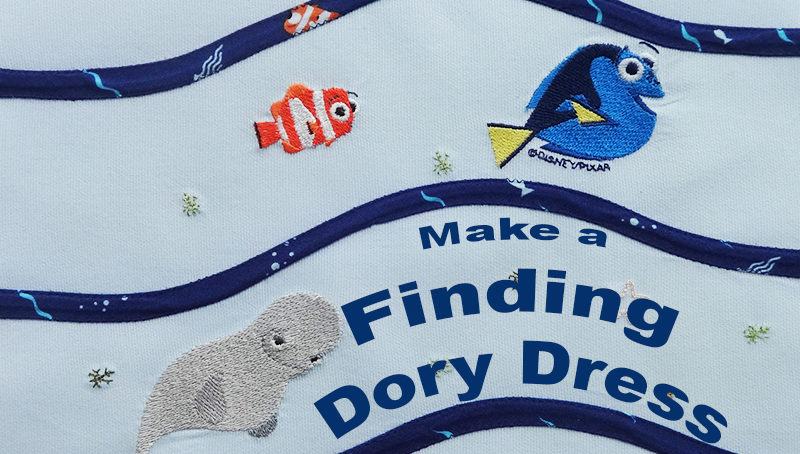 Finding Dory Dress with New iBroidery Designs