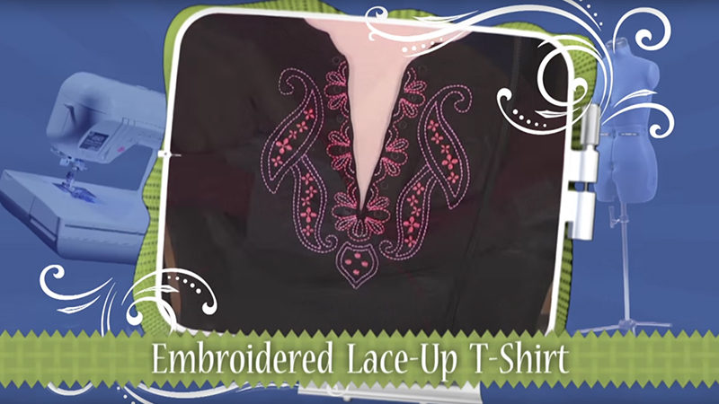 Restyle a T-Shirt with Embroidery on It's Sew Easy TV