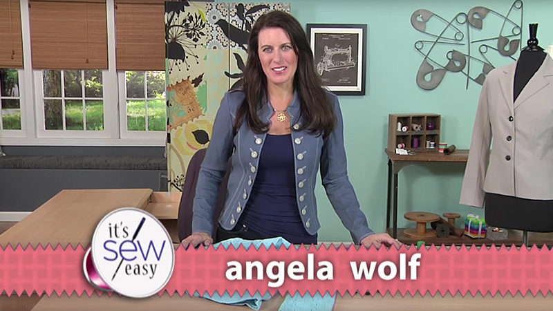 Angela Wolf Updates a Jacket on It's Sew Easy