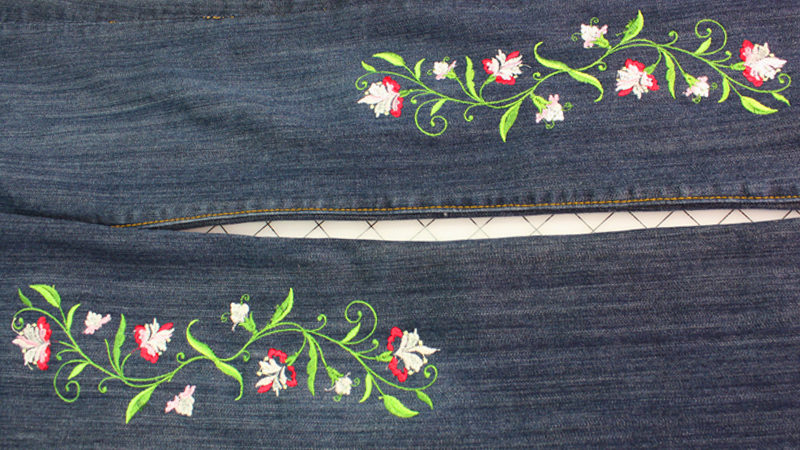 Restyle Jeans by Embellishing with Embroidery