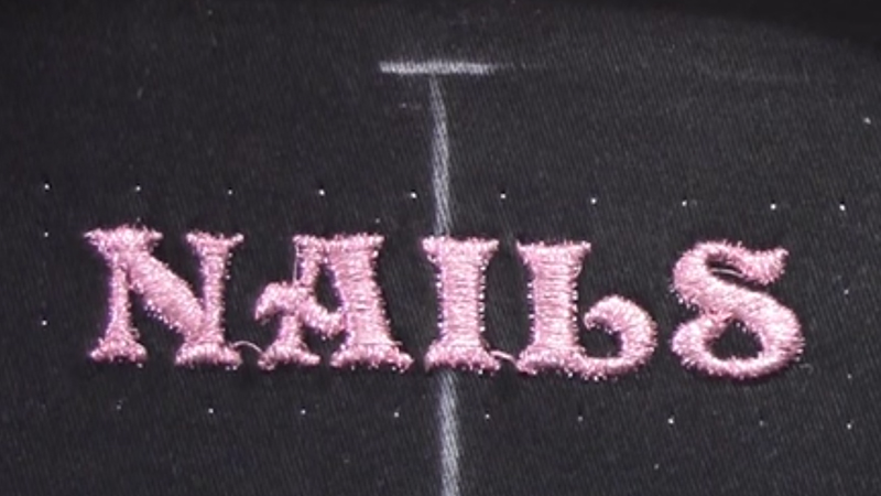 Positioning Embroidered Metallic Letters