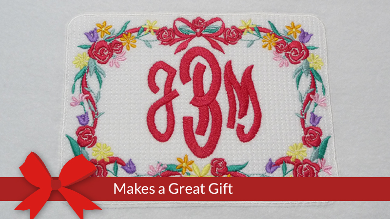 Monogrammed Fleece Blanket with Walking Foot