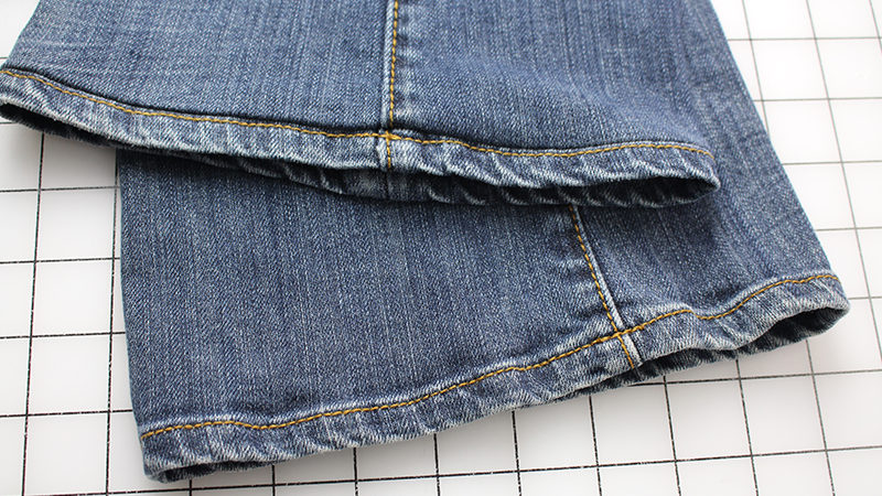 Hemming Jeans While Keeping Original Hem