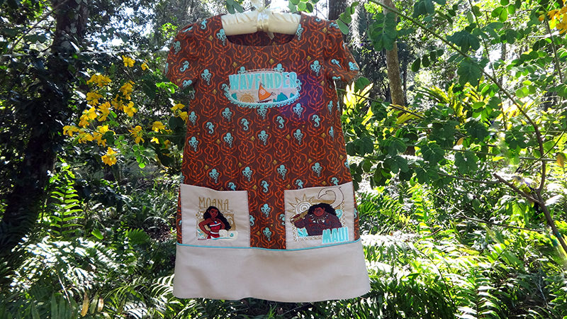Moana Embroidered Dress and Key Chains