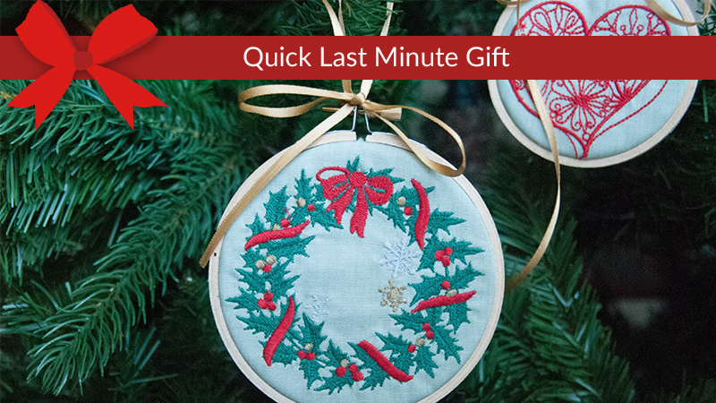 Deck the Halls with Embroidered Ornaments