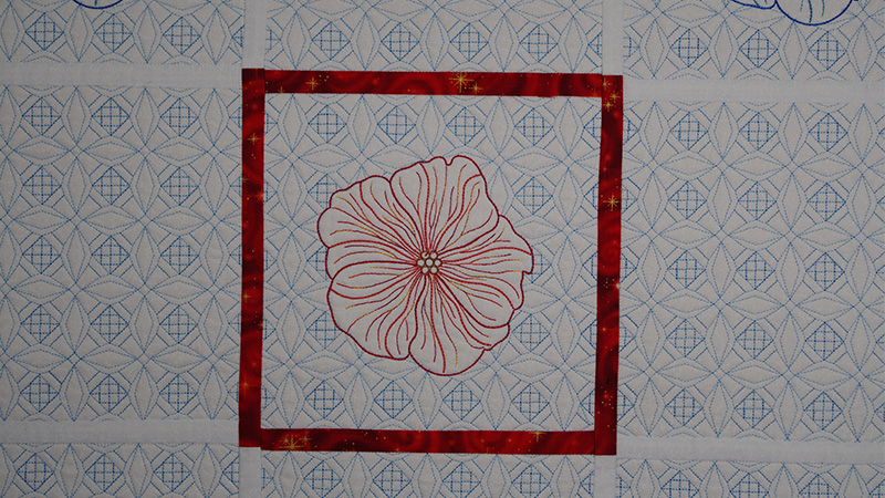 Quilted Block on a Multi-Needle Embroidery Machine