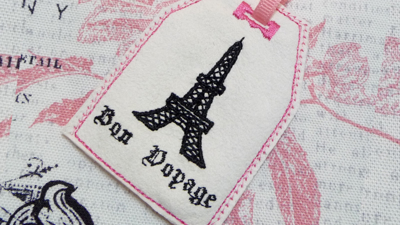Bon Voyage Luggage Tag with Free Design
