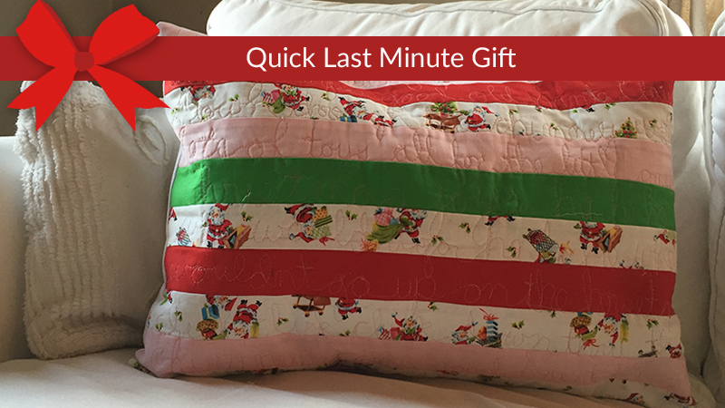 Handwriting Holiday Pillow on the Dream Fabric Frame