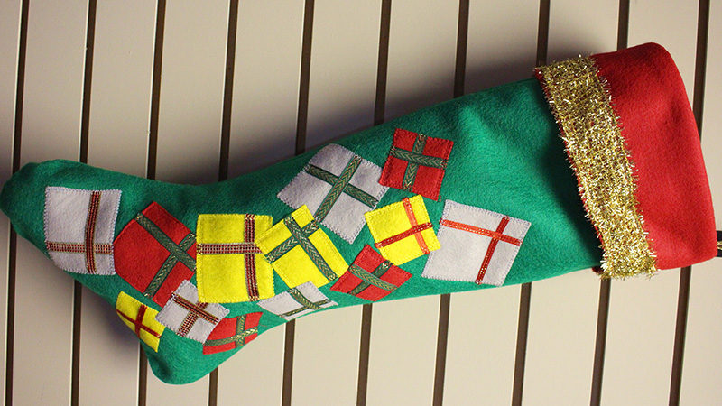 How to Embellish a Stocking with Appliqué
