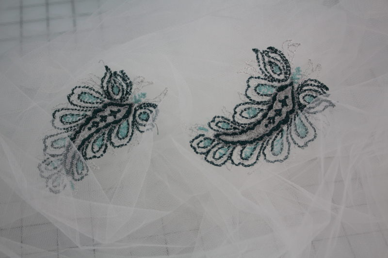 embroidered tulle 124