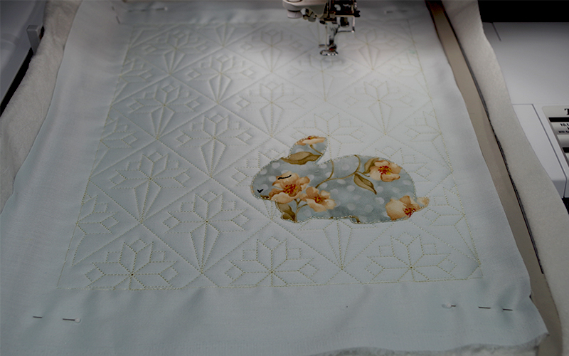 Quilted and Applique Placemat 689