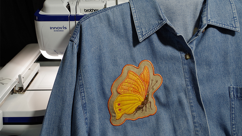 How to add an Applique Patch to a Denim Shirt