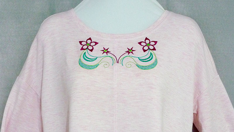 Free Design: Embroidering Necklines on Knits