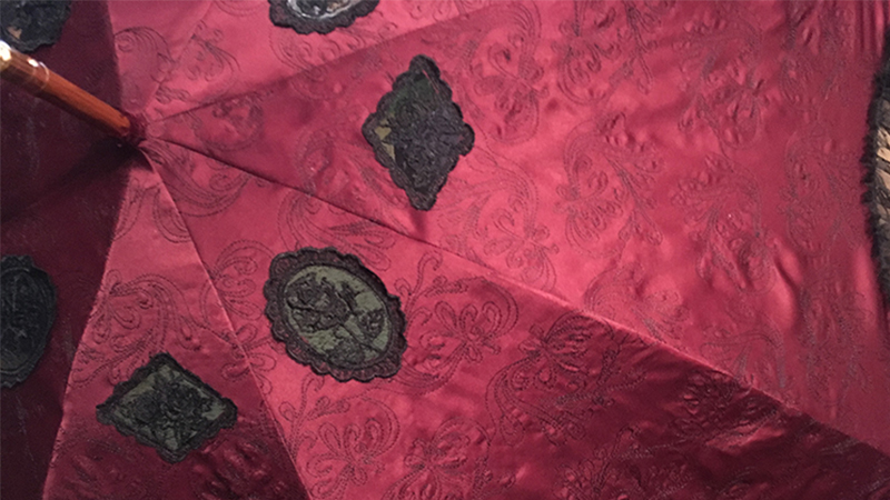 Creating Embroidered Yardage: Steampunk Parasol
