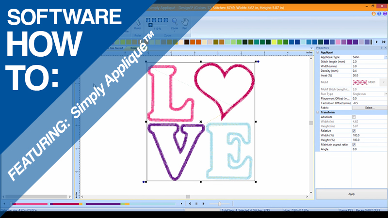 Video How-to: Simply Appliqué™ – Exporting a FCM File