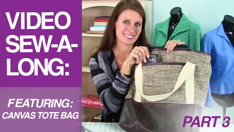 Video Sew-A-Long: Canvas Tote Bag: Part 3: Straps