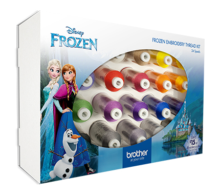 Brother Frozen Embroidery Thread Kit