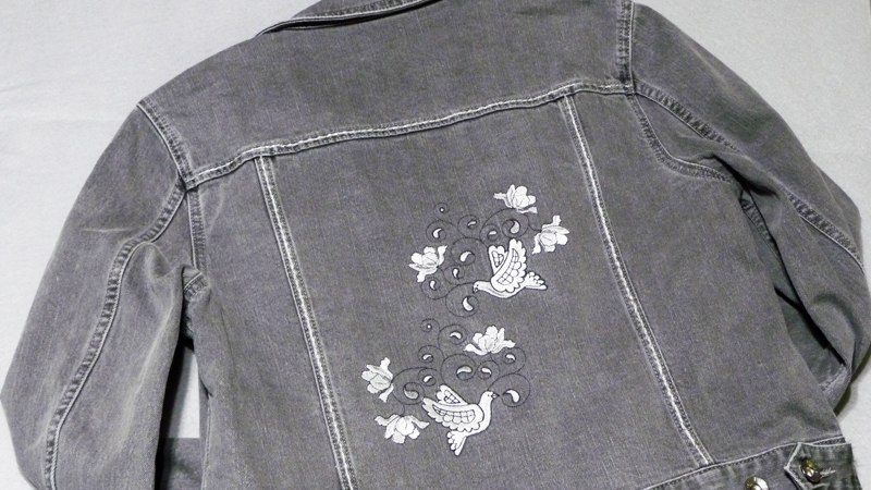 Free Design of the Month: Embroidered Jean Jacket