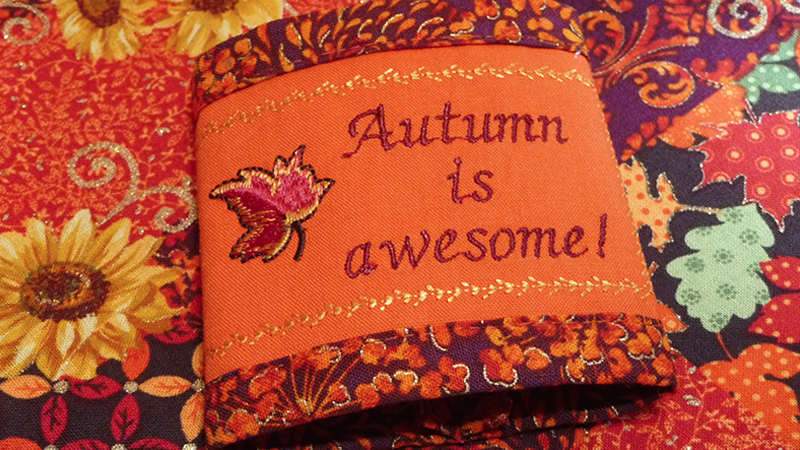 October Free Design: Embroidered Napkin Rings for Fall