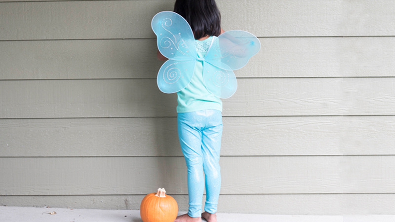 Easy Halloween Leggings Costume