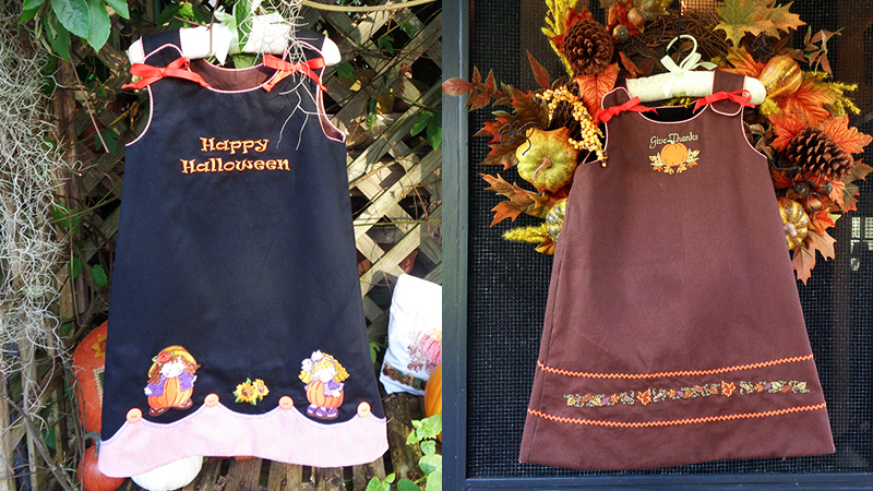 A Two Holiday Reversible Fall Jumper