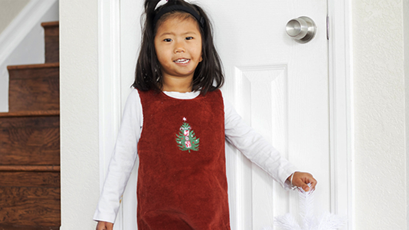 Fun Embroidered Christmas Jumper