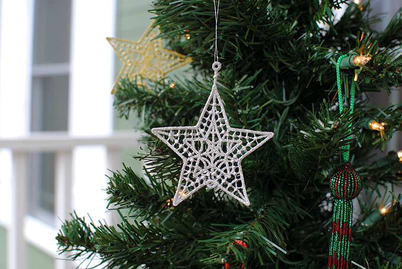 Freestanding Lace Star