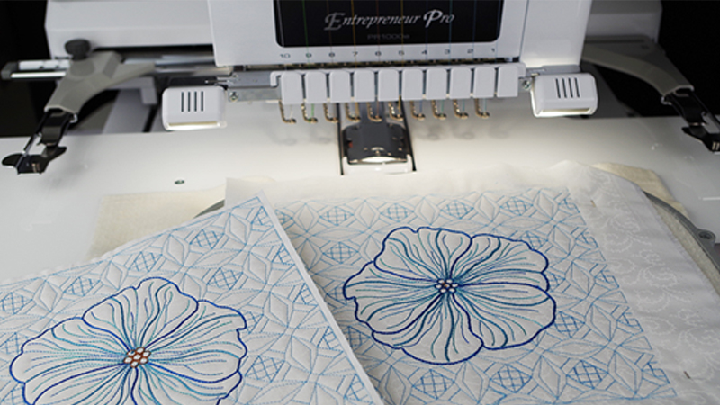 Quilted Block using the Entrepreneur Pro PR1000e
