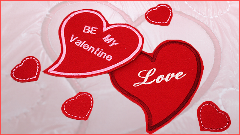 Embroider Personalized Hearts for Valentine's