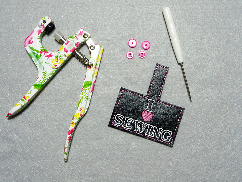 I Love Sewing Key Fob