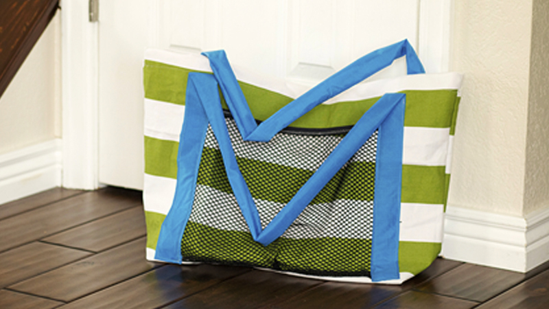 Easy Beach Bag Sewing Tutorial
