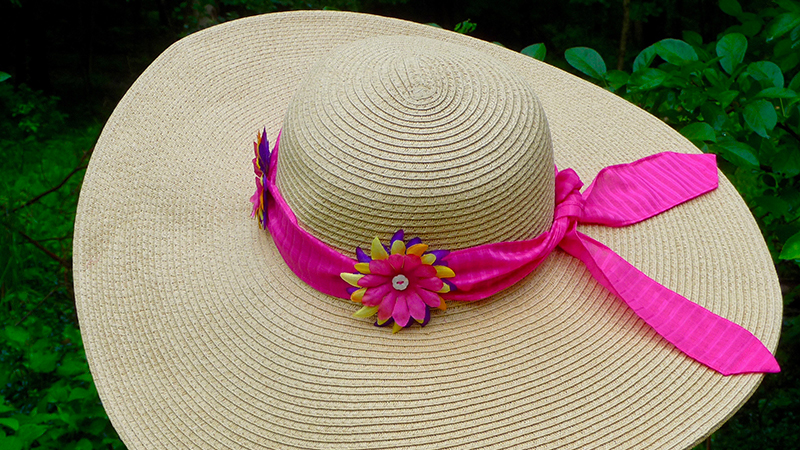 Foot of the Month: Embellished Straw Hat