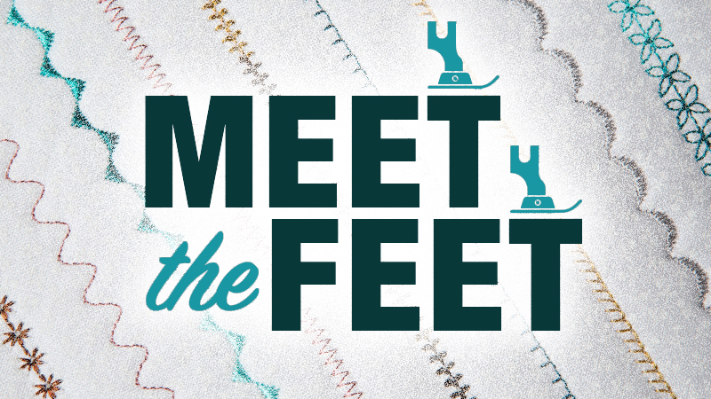Meet the Feet! Today, the Pin Tuck Foot