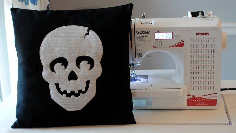 DIY Halloween Appliqué Pillow