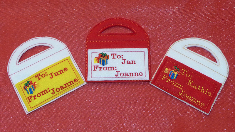 Free Design: Embroidered Gift Tag with Pocket