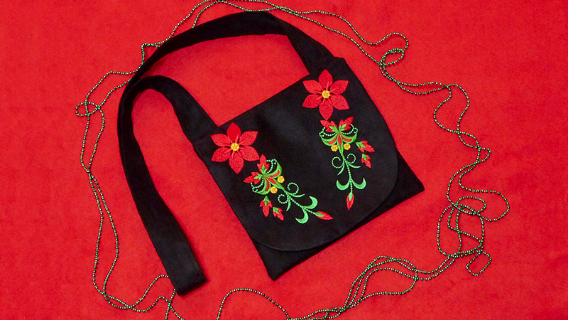 Foot of the Month: Faux Suede Shoulder Bag