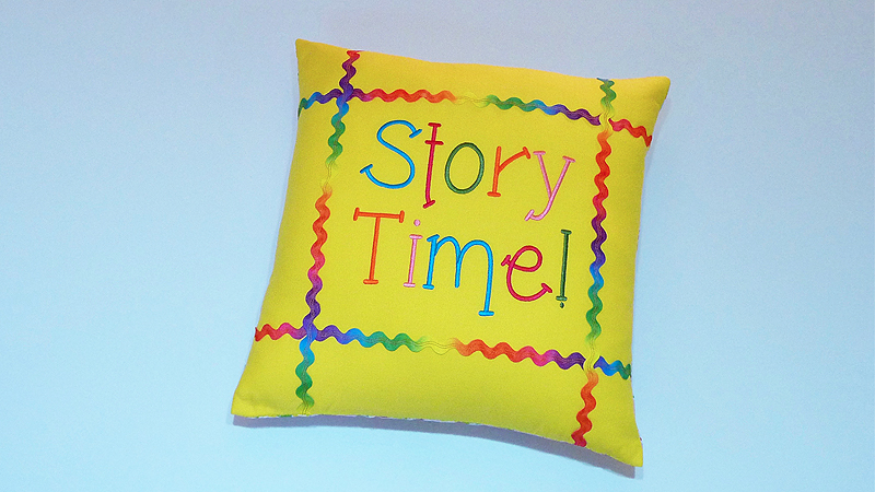 Foot of the Month: Story Time Pillow with Pocket