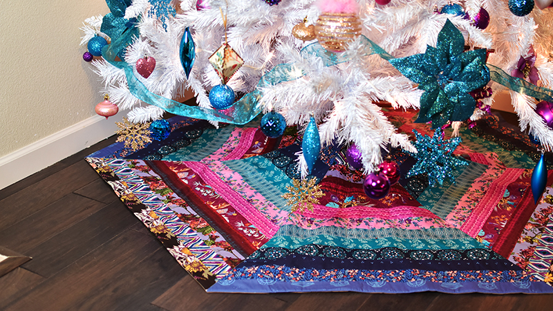 Fast and Fabulous Hexagonal Tree Skirt