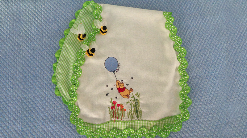 Part 1: A Winnie the Pooh Inspired Burp Cloth
