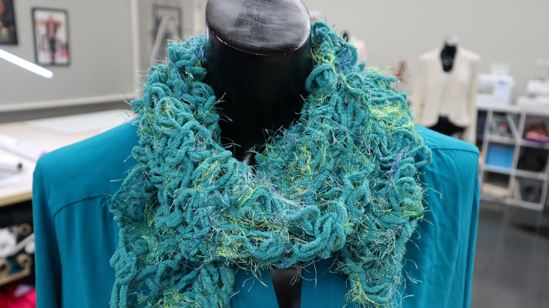 Custom Embroidered Yarn Scarf