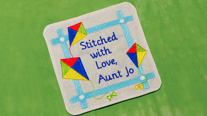 In-the-Hoop Embroidered Label for Quilts and More